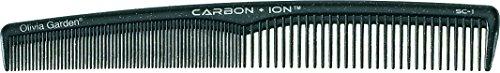 Olivia Garden Carbon + Ion Haarschneidekamm C-1751, mit abgerundeten Kammzähnen